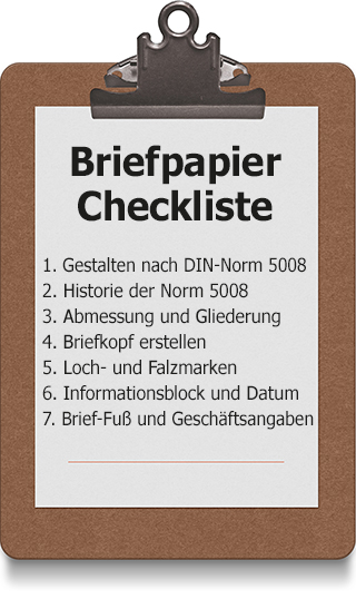 Briefpapier Checkliste
