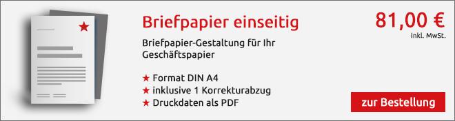 Briefpapier Angebot
