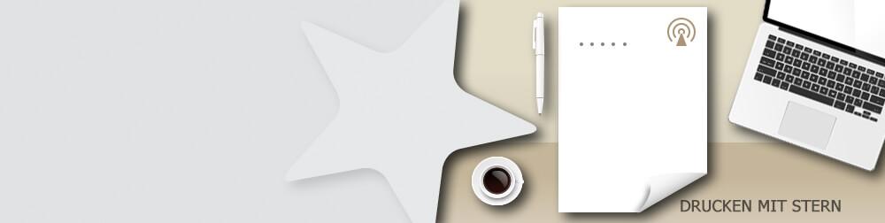 Briefpapiere einseitig bedruckt - präsentieren Sie Ihre Firma professionell