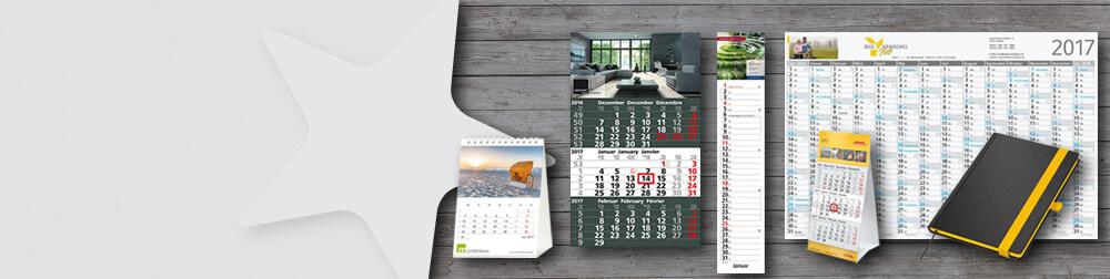 Werbung auf dem Jahreskalender