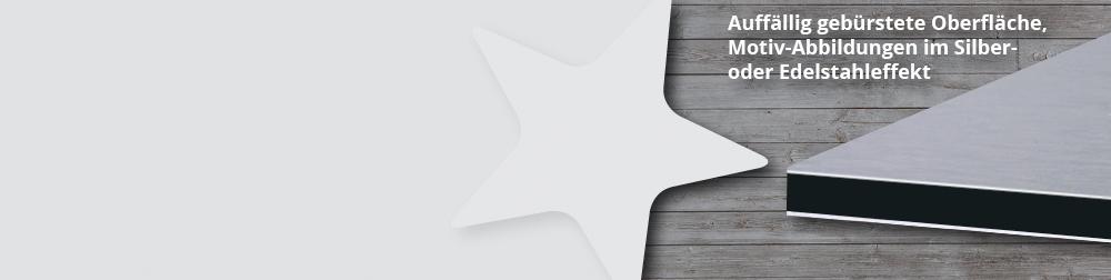 Butlerfinish Oberfläche in gebürsteter Silberoptik