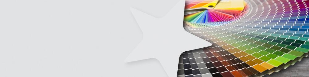 Farbfächer für Sonderfarben-Auswahl