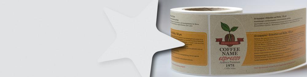 Grass-Papier-Etiketten auf Kern