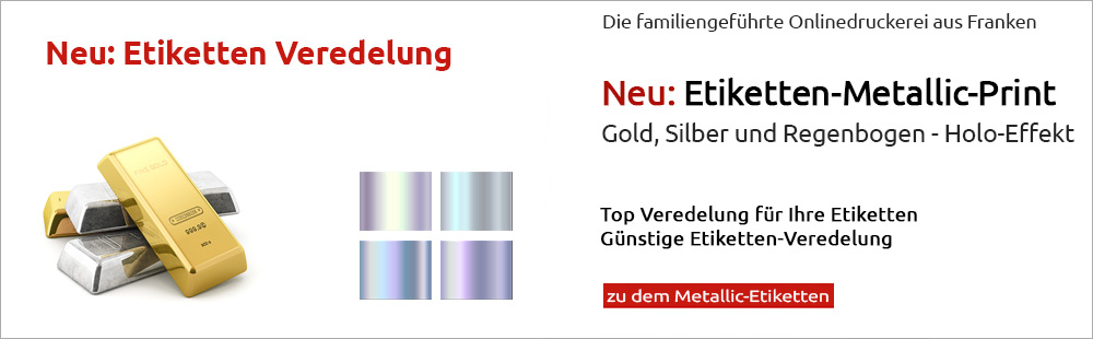 Gold-Silber-Regenbogen-Etiketten